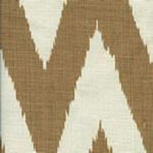 302501F TASHKENT Camel on Oyster Quadrille Fabric