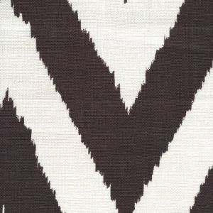 305059F VIENNESE Brown on Tint Quadrille Fabric