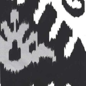302830W-19WP KAZAK Black Metallic Silver Quadrille Wallpaper