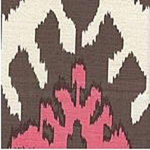 302835S KAZAK Brown Pink On Silk Quadrille Fabric