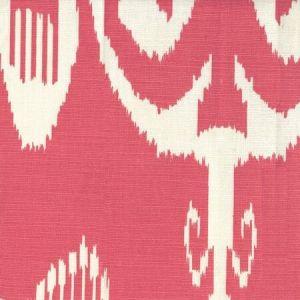 303038TLC NOMAD Orange on Tinted Linen Cotton Quadrille Fabric