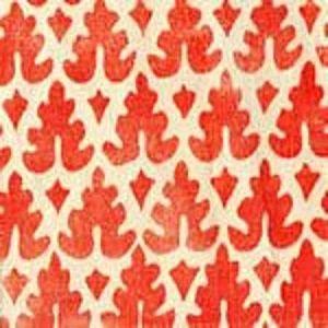 304041F VOLPI Orange on Tint Quadrille Fabric