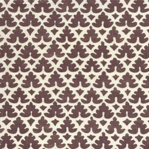 304049F VOLPI Brown on Tint  Quadrille Fabric