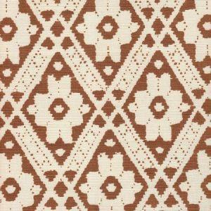 305053F VIENNESE Mocha on Tint Quadrille Fabric