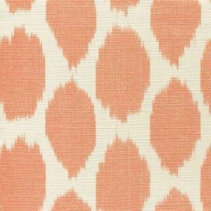 306109F ADRAS Orange on Tint Quadrille Fabric
