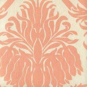 306160L-04 CORINTHE DAMASK Peach on Ecru Quadrille Fabric