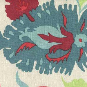 306225W UZBEK Multi Red Greens Blues Quadrille Wallpaper