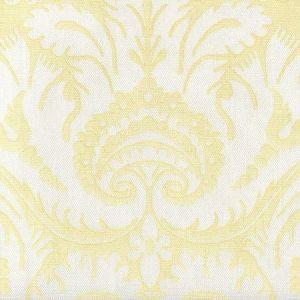 306249FWLC BORGHESE Yellow on White Linen Cotton Quadrille Fabric