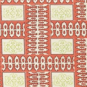 306283F MANCHESTER BY THE SEA Tomate Ribbon Quadrille Fabric