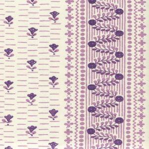 306297CT LINKS II Purple Lilacs on Cotton Sateen Quadrille Fabric