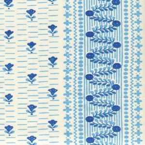 306298CT LINKS II Blue New Blue on Cotton Sateen Quadrille Fabric