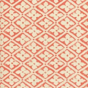 306330F-14 PUCCINI Tomato on Tinted Linen Quadrille Fabric