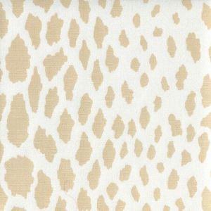 306360F-01WLC CHEETAH Beige on White Quadrille Fabric