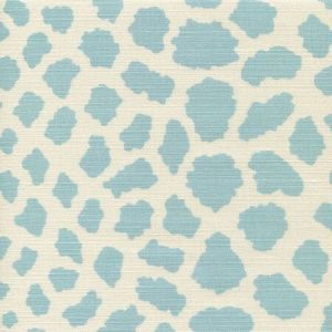 306360F-03 CHEETAH New Blue on Tint Quadrille Fabric