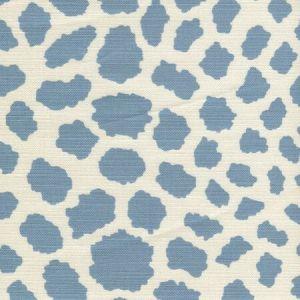 306360F-04 CHEETAH Windsor Blue on Tint Quadrille Fabric