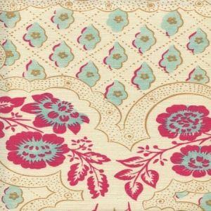 306430C-05 LEOPARDO II Magenta Turquoise Camel Quadrille Fabric