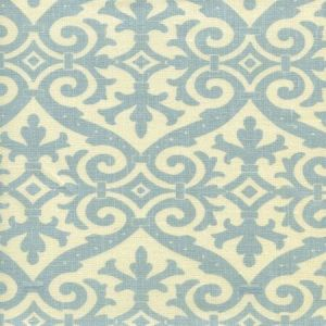 306490-03 FRENCH DAMASK Soft Windsor Blue on Tint Quadrille Fabric