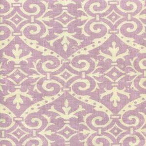 306495F-05 FRENCH DAMASK REVERSE Soft Lavender on Tint Quadrille Fabric