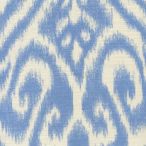 306570-02 ISHIM IKAT French Blue on Tint Quadrille Fabric