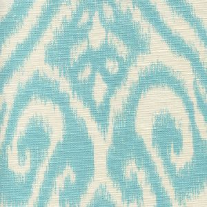 306570-03 ISHIM IKAT Turquoise on Tint Quadrille Fabric