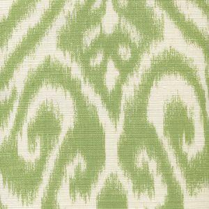 306570-06 ISHIM IKAT Jungle Green on Tint Quadrille Fabric
