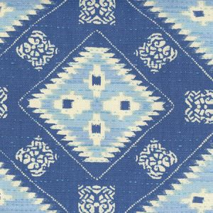 306620F-05 QUILT BATIK Multi Denim Blues Quadrille Fabric