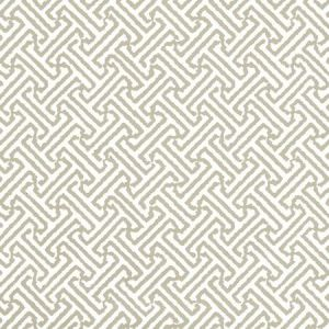3080-14WP JAVA JAVA Greige On White Quadrille Wallpaper