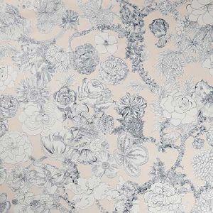 ZENNOR ARBOUR CS Pewter Plaster Pink Fabricut Fabric