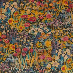 FARIA FLOWERS VV Lichen Fabricut Fabric