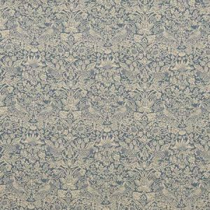 STRAWBERRY MEADOW LL Lapis Fabricut Fabric