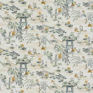 TIAN CHINOISERIE Saffron Stroheim Fabric