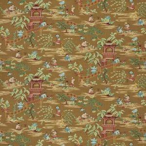 TIAN CHINOISERIE Bronze Garden Stroheim Fabric