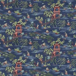 TIAN CHINOISERIE Blue Ribbon Stroheim Fabric