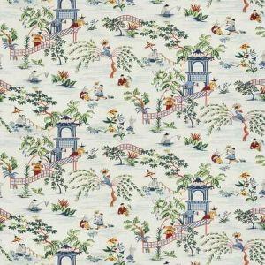 TIAN CHINOISERIE Navy Stroheim Fabric