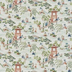 TIAN CHINOISERIE Guava Mist Stroheim Fabric