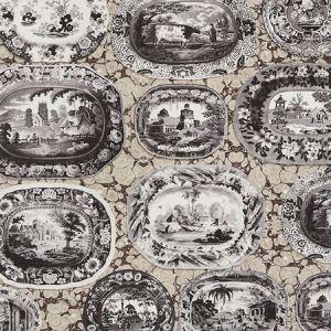 5010411 PLATES & PLATTERS Neutral Schumacher Wallpaper