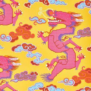 5010601 MAGICAL MING DRAGON Yellow Schumacher Wallpaper
