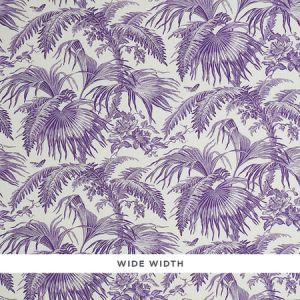 5011482 TOILE TROPIQUE Purple Schumacher Wallpaper