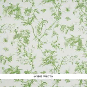 5011710 TOILE DE LA PRAIRIE Green Schumacher Wallpaper