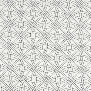 55695 DURANCE EMBROIDERY Black White Schumacher Fabric
