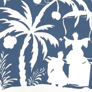 6015-08WP LYFORD BACKGROUND Navy On Almost White Quadrille Wallpaper