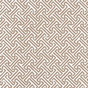622-30 JAVA PETITE Camel Ii On White Quadrille Wallpaper