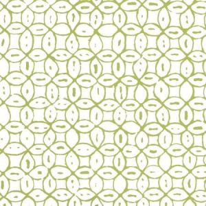 6450-04WWP MELONG BATIK Jungle Green On White Quadrille Wallpaper