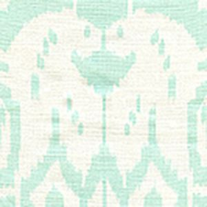 6460-32WP ISLAND IKAT Pale Aqua On White Quadrille Wallpaper