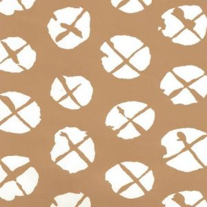 6655WP-02 OBI II REVERSE Camel On Almost White Quadrille Wallpaper