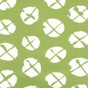 6655WP-03 OBI II REVERSE Jungle Green On Almost White Quadrille Wallpaper
