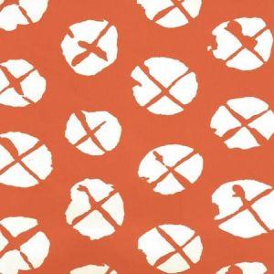6655WP-06 OBI II REVERSE Orange On Almost White Quadrille Wallpaper