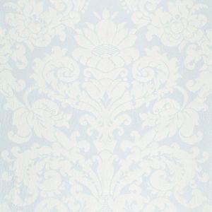 68880 CHATEAU SILK DAMASK Ciel Schumacher Fabric