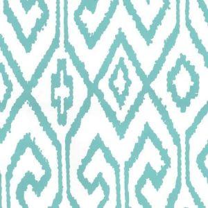 7240-04WP AQUA IV Turquoise On White Quadrille Wallpaper