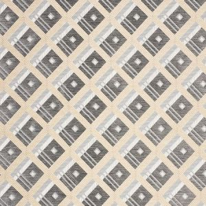76011 LEGRAD ARGYLE Charcoal Schumacher Fabric